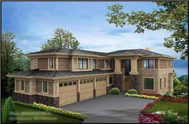5-Bedroom, 4922 Sq Ft Craftsman House Plan - 115-1469 - Front Exterior