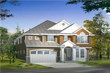 5-Bedroom, 4410 Sq Ft Shingle Home Plan - 115-1470 - Main Exterior