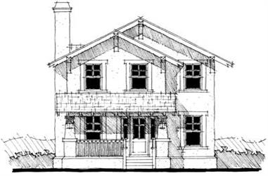3-Bedroom, 1886 Sq Ft Traditional House Plan - 116-1000 - Front Exterior