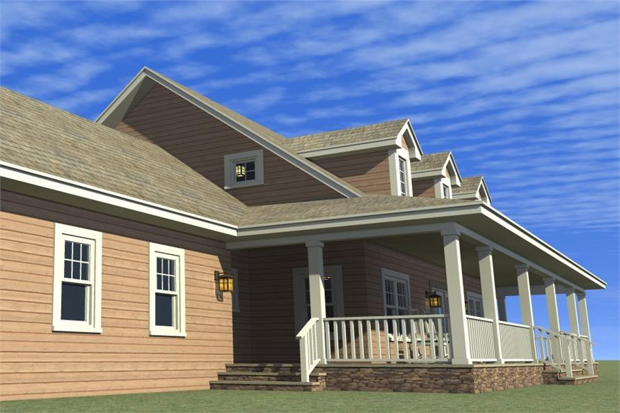 Home Plan Left Elevation of this 4-Bedroom,2265 Sq Ft Plan -116-1001