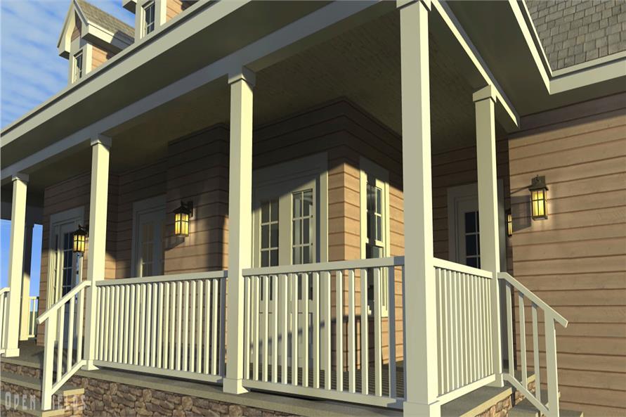 116-1001: Home Plan Rendering