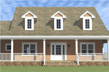 4-Bedroom, 2265 Sq Ft Country House Plan - 116-1001 - Front Exterior