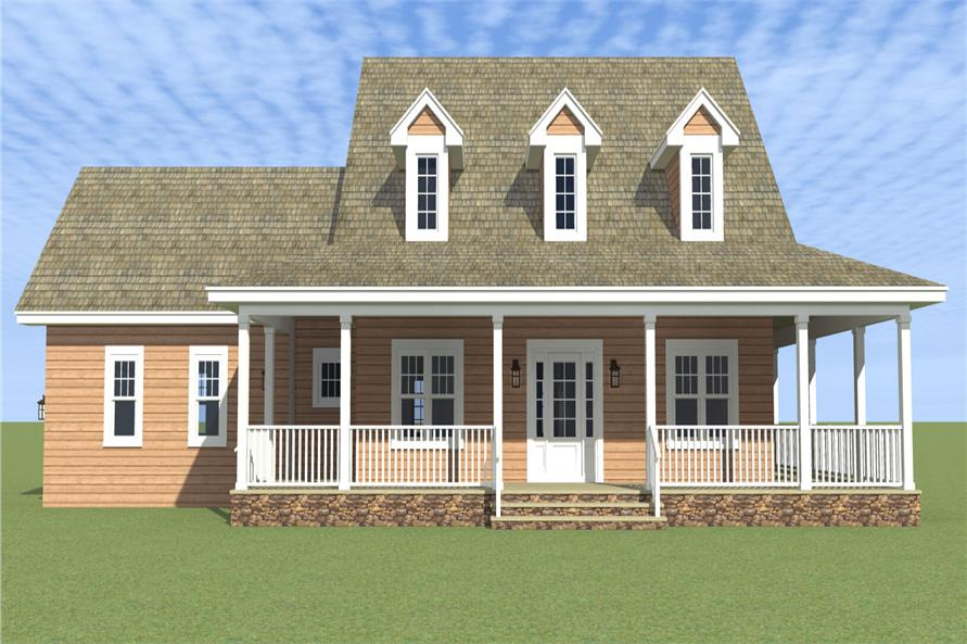 Front elevation of Country home (ThePlanCollection: House Plan #116-1001)
