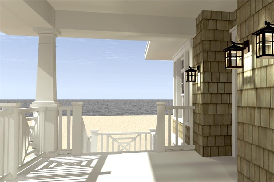 116-1003: Home Plan Rendering-Porch