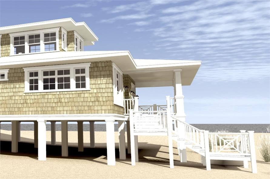Home Plan Left Elevation of this 3-Bedroom,2621 Sq Ft Plan -116-1003