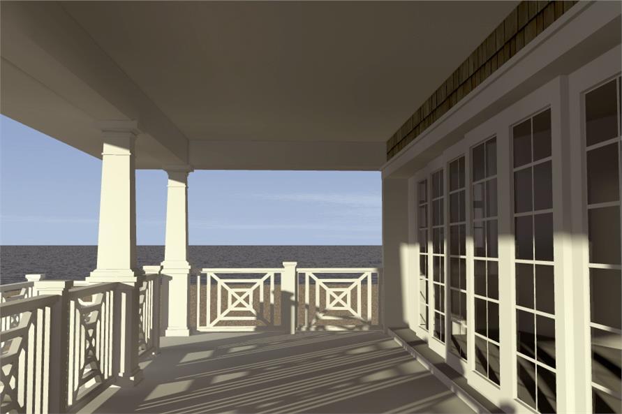 116-1003: Home Plan Rendering-Deck