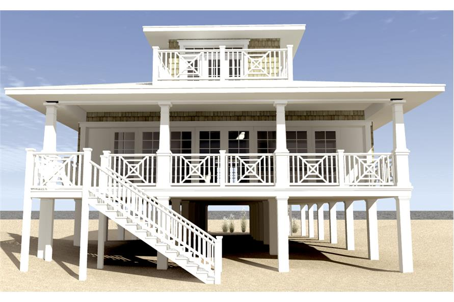 116-1003: Home Plan Rear Elevation