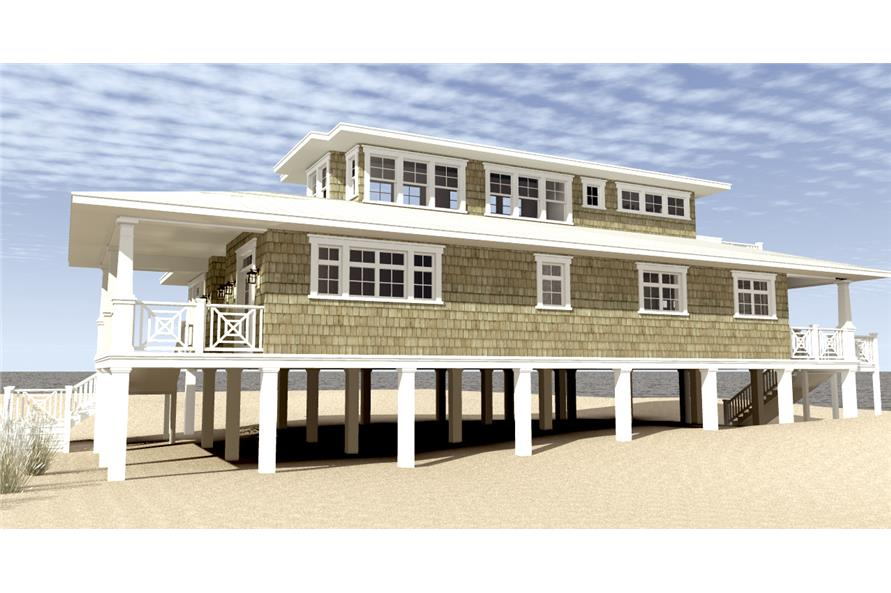 116-1003: Home Plan Right Elevation