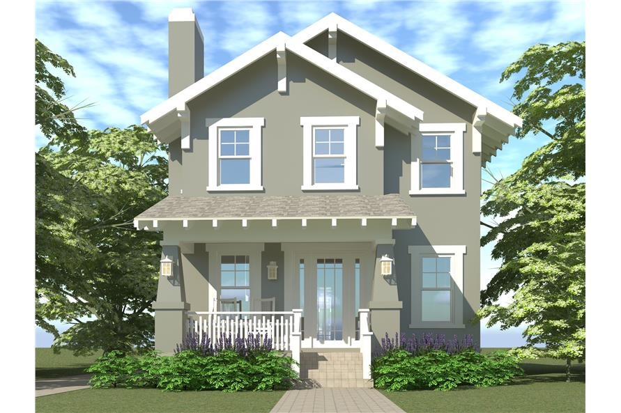 Home Plan Rendering of this 3-Bedroom,1586 Sq Ft Plan -1586