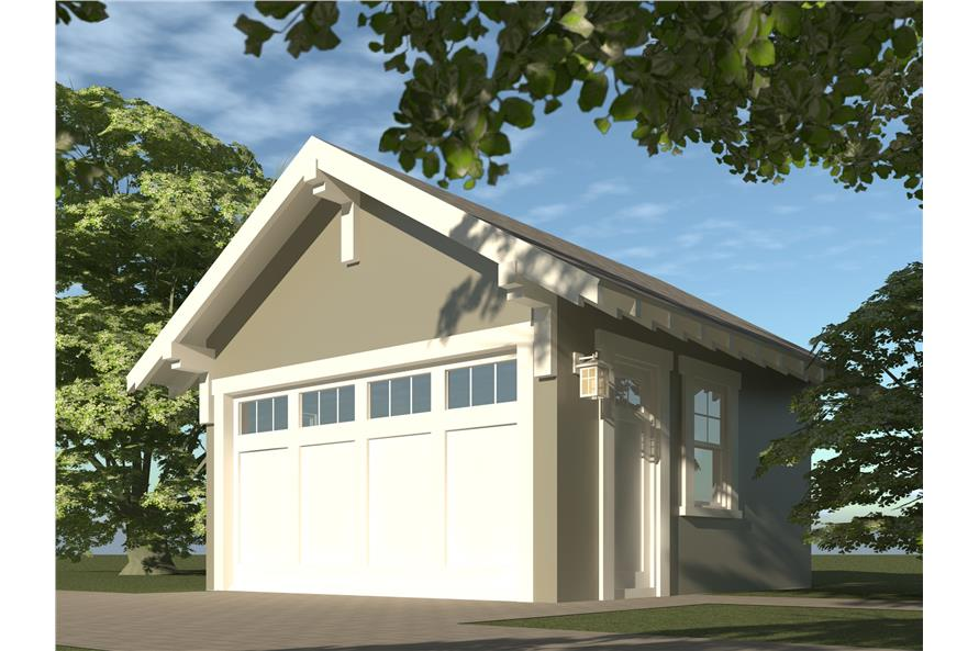 116-1007: Home Plan Rendering-Garage
