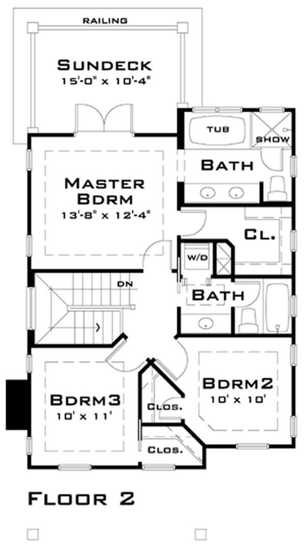 116-1007 house plan second floor
