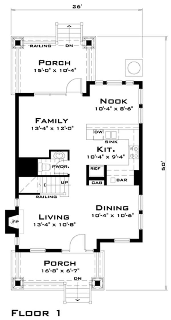 House Plan DT-0038 Main Floor Plan