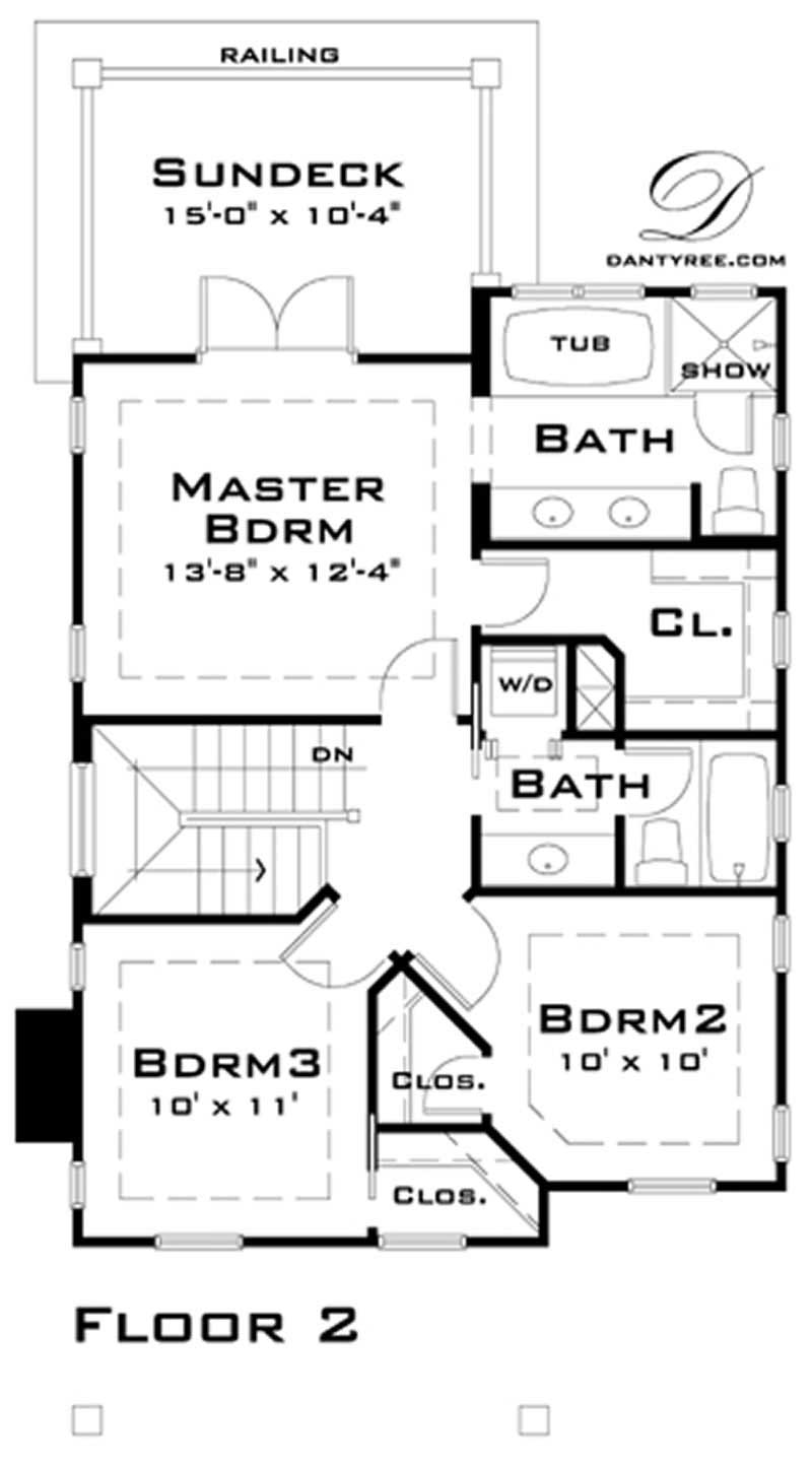 House Plan DT-0038 Second Floor Plan
