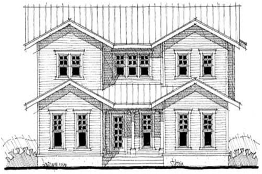 Front elevation of Traditional home (ThePlanCollection: House Plan #116-1009)