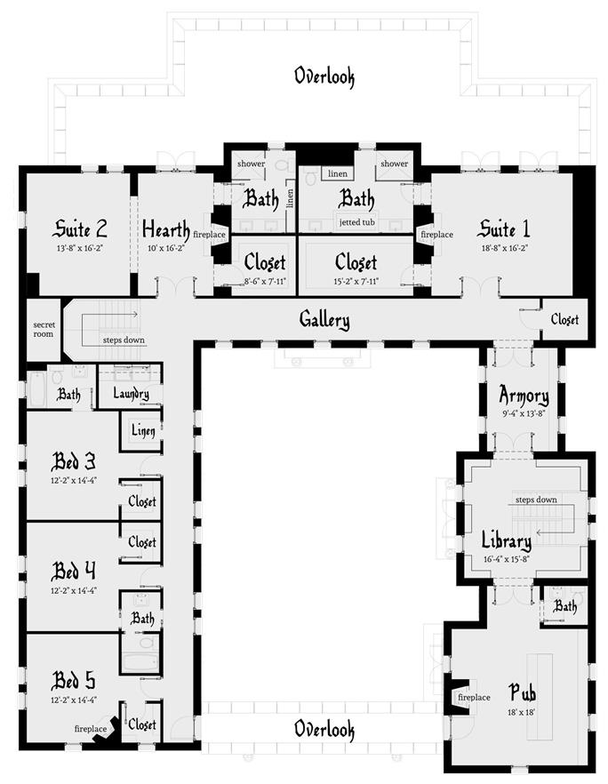 Scottish Castle House Plan With Tower 116 1010 5 Bedrms