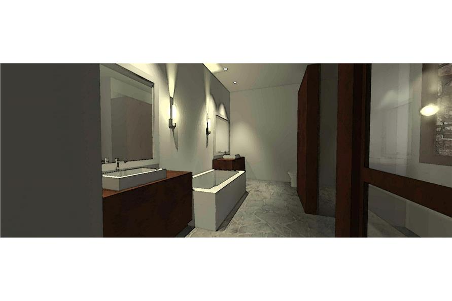 116-1010: Home Plan 3D Image-Bathroom