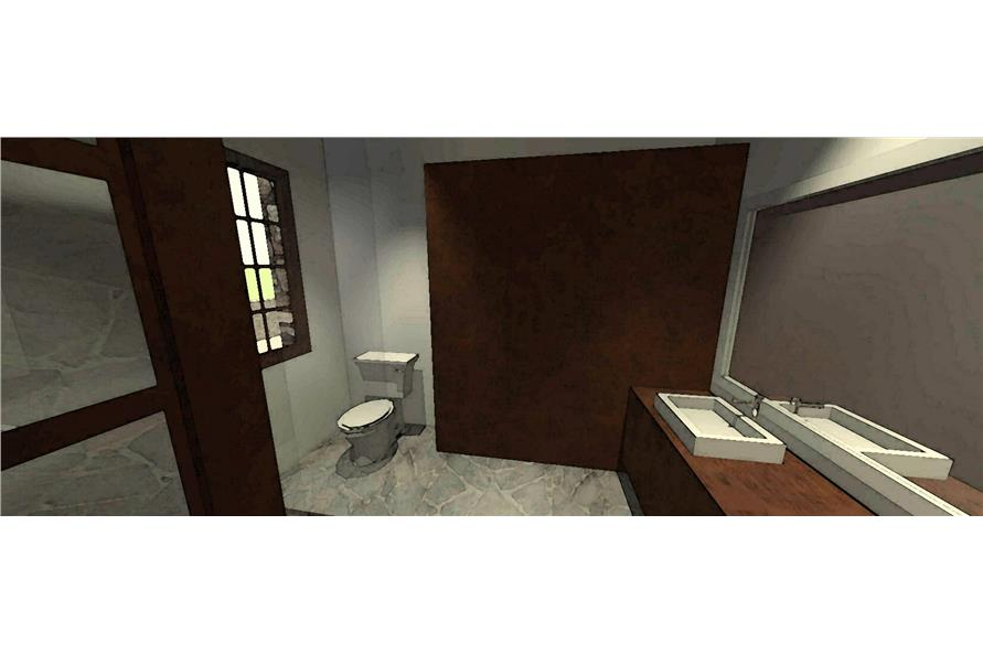 116-1010: Home Plan 3D Image-Bathroom
