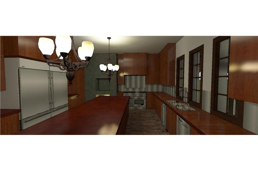 116-1010: Home Plan 3D Image-Kitchen