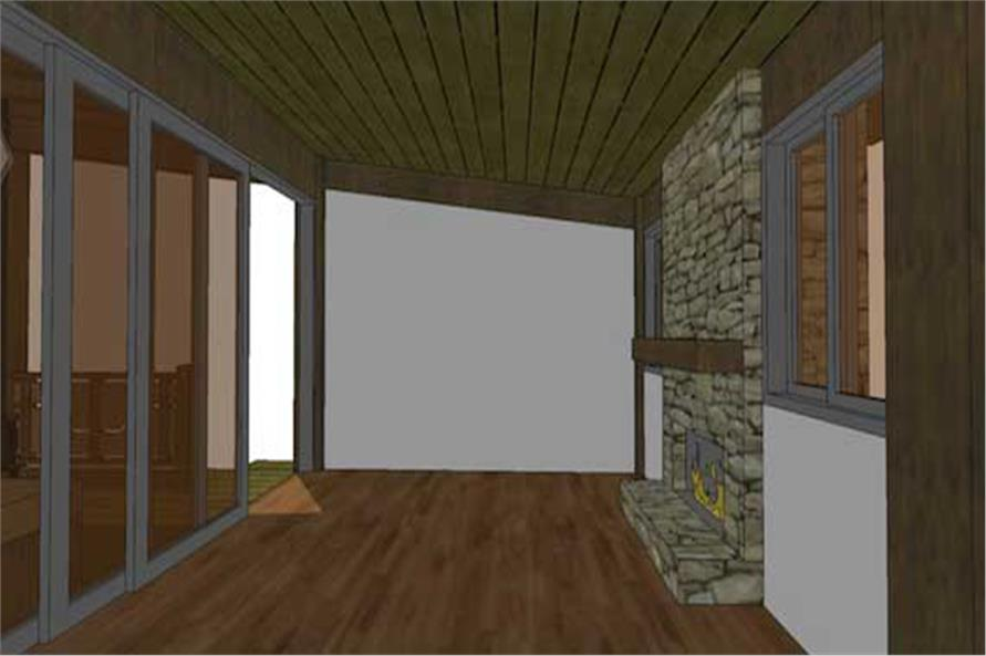 116-1013: Home Plan 3D Image-Great Room