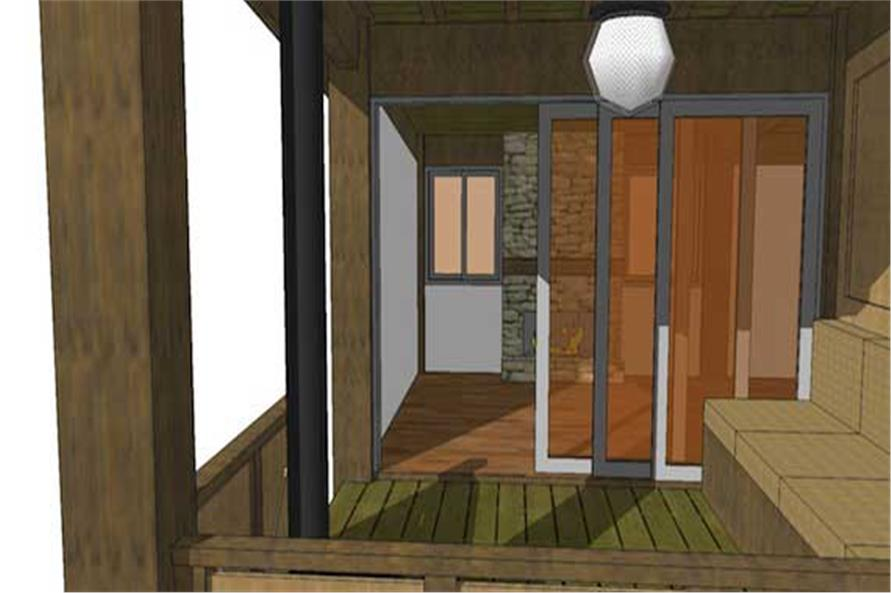 Porch of this 1-Bedroom,456 Sq Ft Plan -456