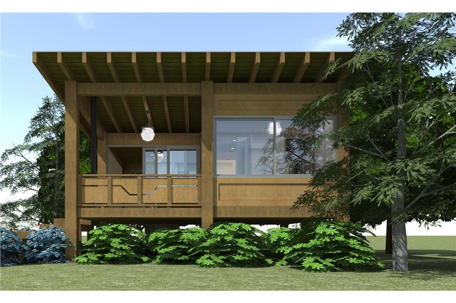 116-1013: Home Plan Right Elevation