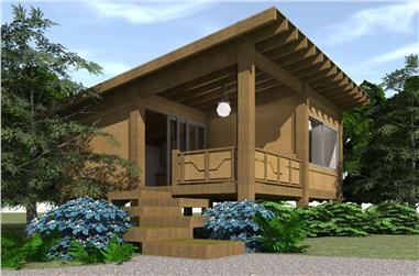 1-Bedroom, 456 Sq Ft Modern Home - Plan #116-1013 - Main Exterior