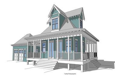 2-Bedroom, 1527 Sq Ft Coastal Home Plan - 116-1014 - Main Exterior