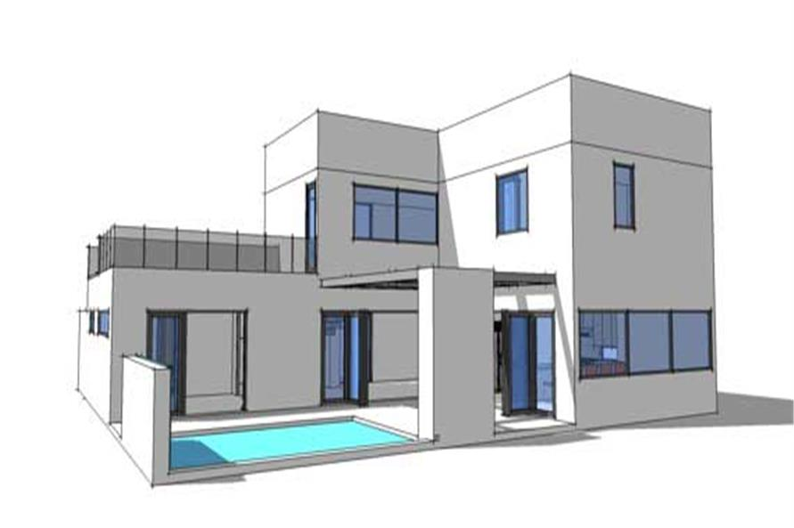 #116 1015 · Home Plan Rear Elevation Of This 3 Bedroom,2459 Sq Ft Plan  116