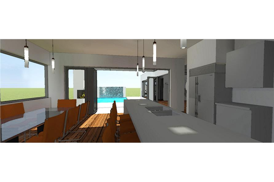 116-1015: Home Plan Rendering-Kitchen