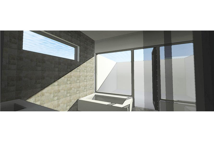 116-1015: Home Plan Rendering-Master Bathroom