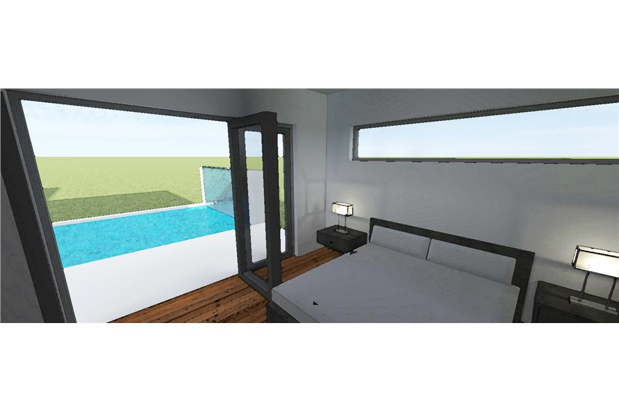 116-1015: Home Plan Rendering-Master Bedroom