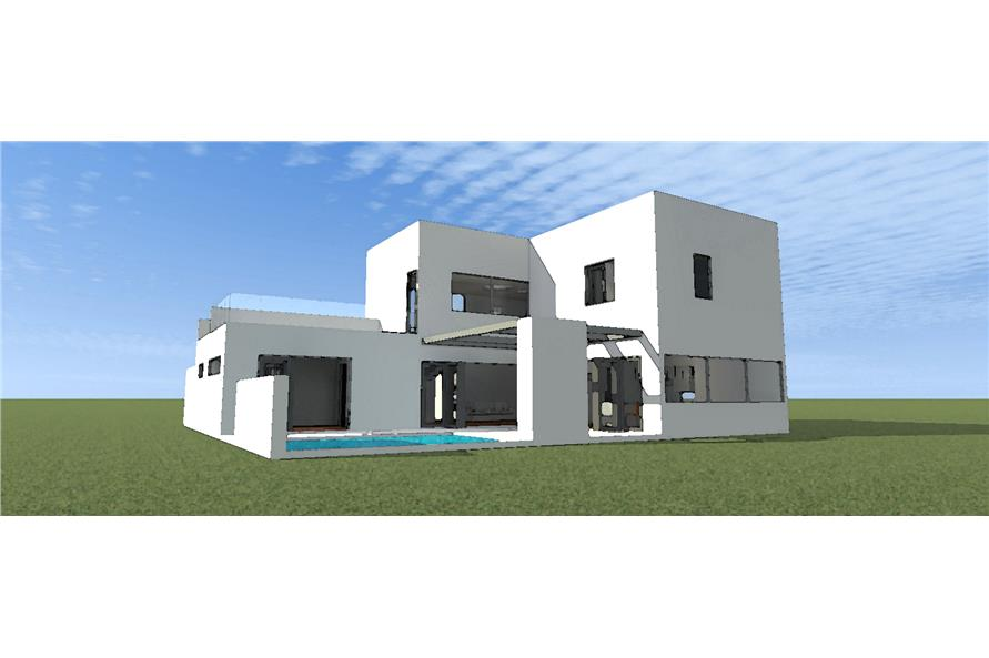 Home Plan Rear Elevation of this 3-Bedroom,2459 Sq Ft Plan -116-1015