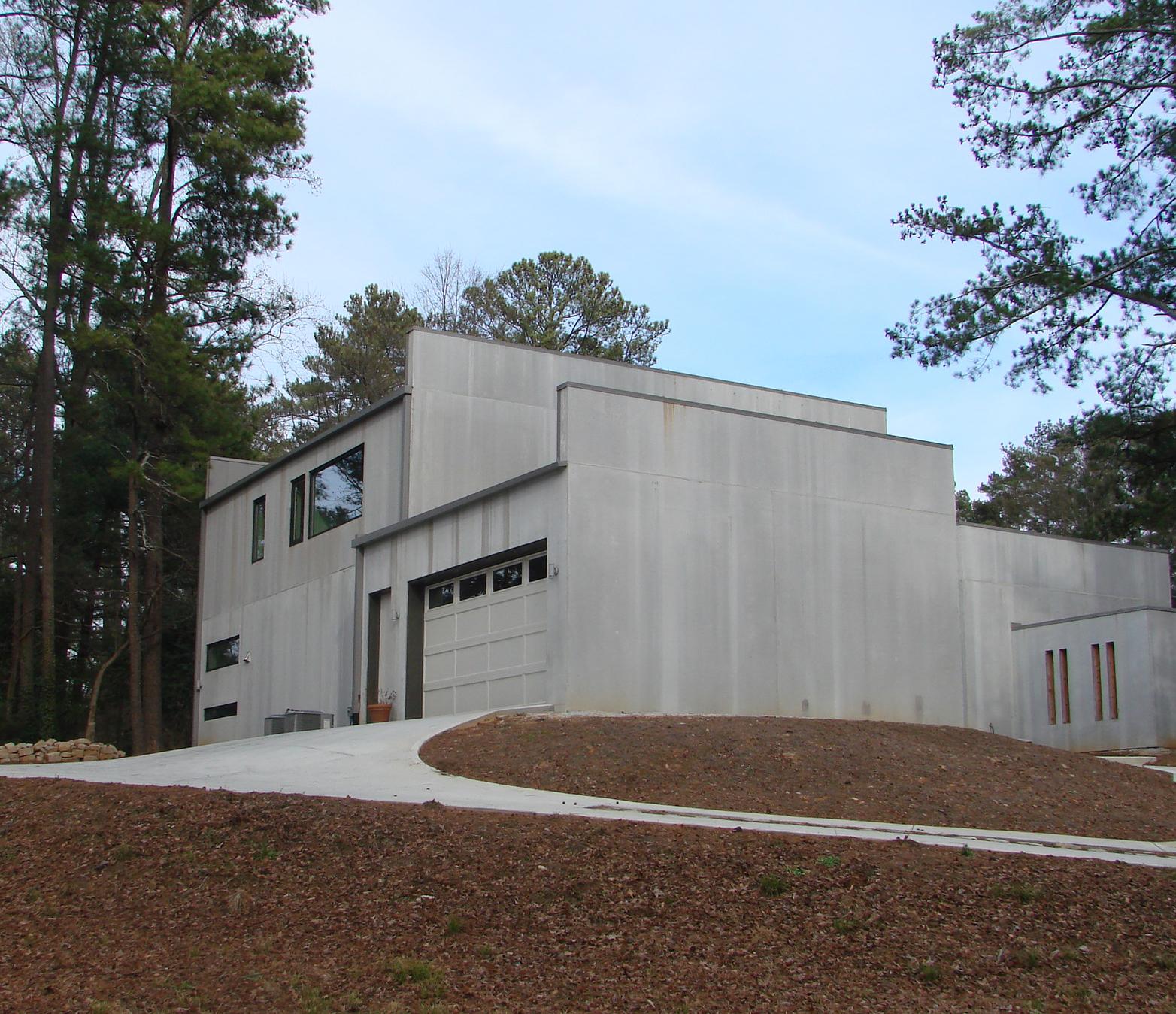 3 bedrm 2459 sq ft concrete block icf design house plan for Concrete block garage plans