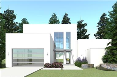 Color rendering of Modern house plan 116-1015.