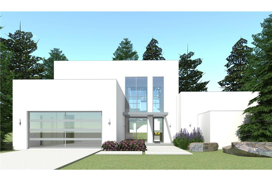 #116 1015 · Color Rendering Of Modern House Plan 116 1015.