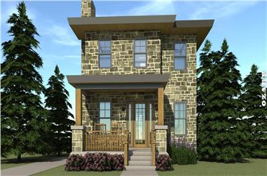 3-Bedroom, 1586 Sq Ft Modern House Plan - 116-1016 - Front Exterior