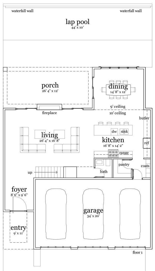 116-1018: Floor Plan Main Level