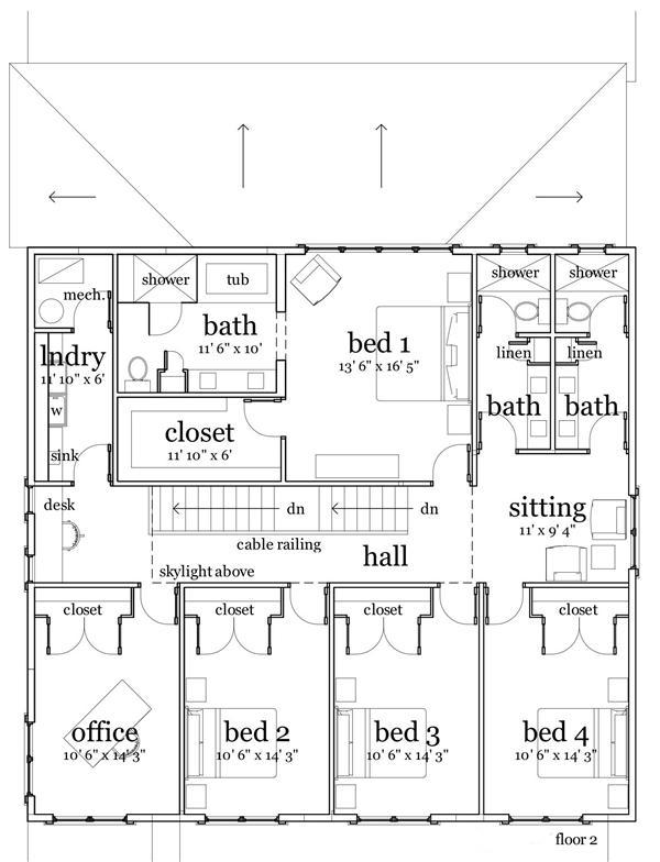 116-1018: Floor Plan Upper Level