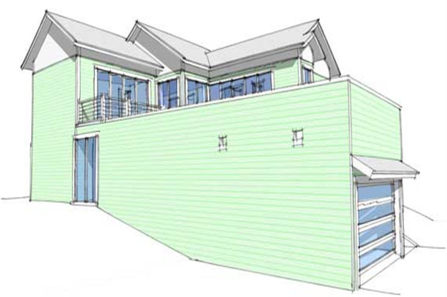 Home Plan Left Elevation of this 4-Bedroom,2592 Sq Ft Plan -116-1021