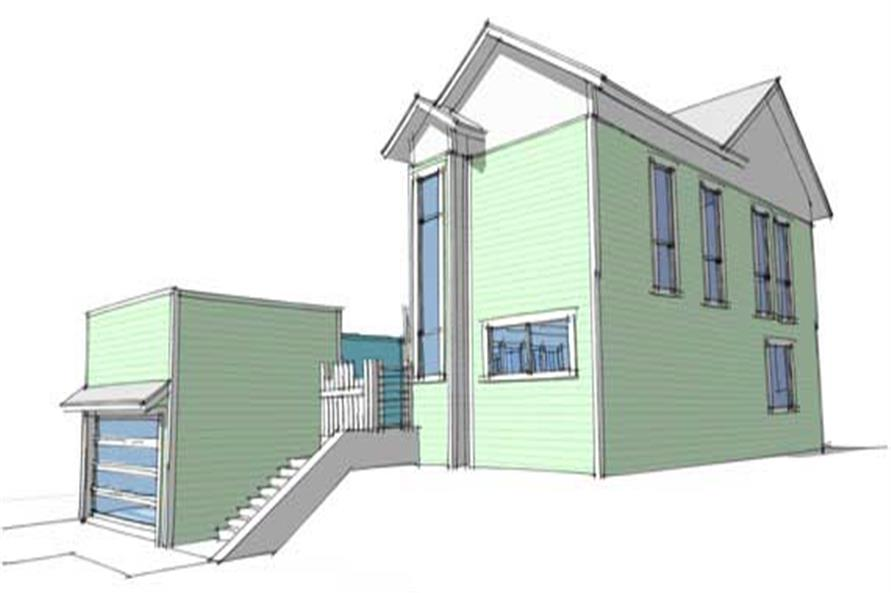 Home Plan Right Elevation of this 4-Bedroom,2592 Sq Ft Plan -116-1021