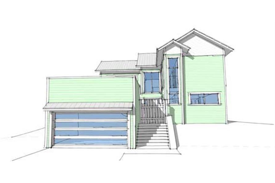 Home Plan Rendering of this 4-Bedroom,2592 Sq Ft Plan -116-1021