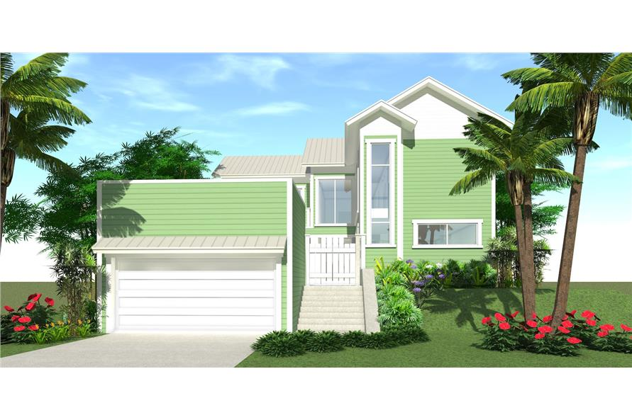 116-1021: Home Plan Front Elevation