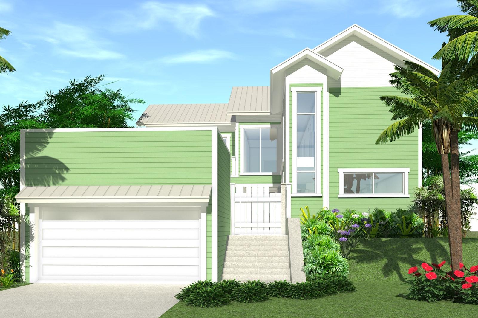 4 bedrm 2592 sq ft beachfront house plan 116 1021 for Beachfront home plans