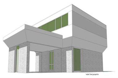 4-Bedroom, 3396 Sq Ft Modern House Plan - 116-1025 - Front Exterior