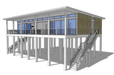 4-Bedroom, 2457 Sq Ft Coastal House Plan - 116-1029 - Front Exterior