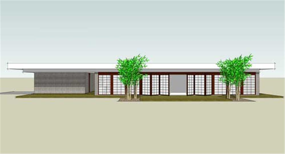 Front elevation of Modern home (ThePlanCollection: House Plan #116-1031)