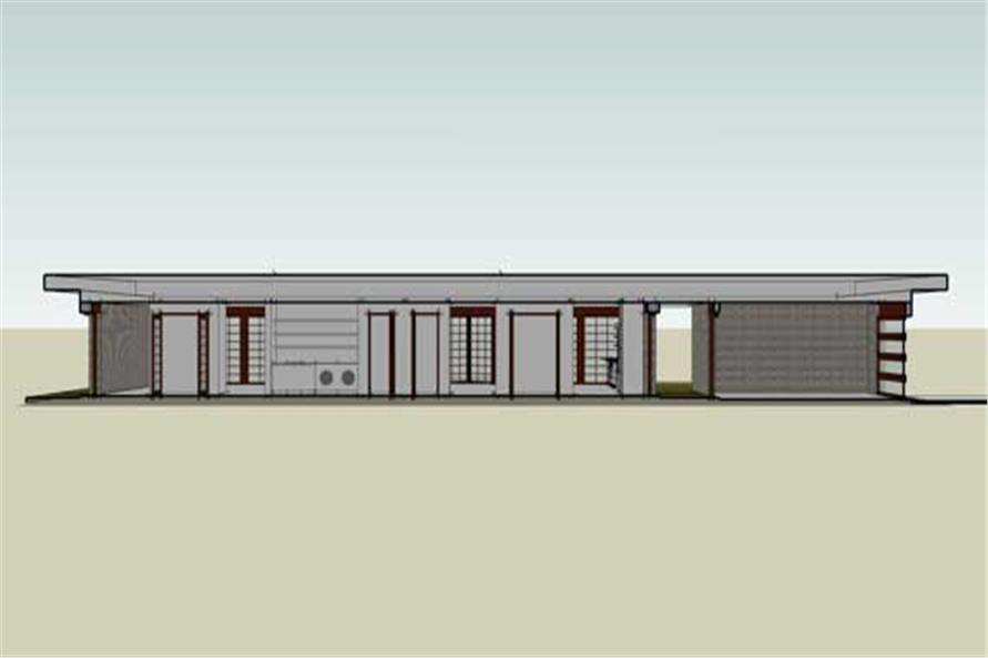 Home Plan Rendering of this 4-Bedroom,2457 Sq Ft Plan -116-1031