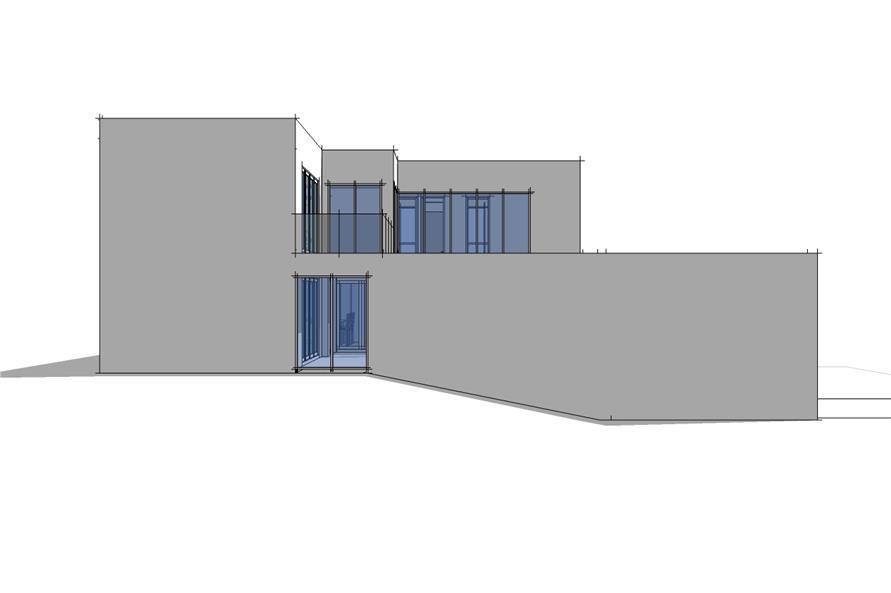 116-1032: Home Plan Left Elevation