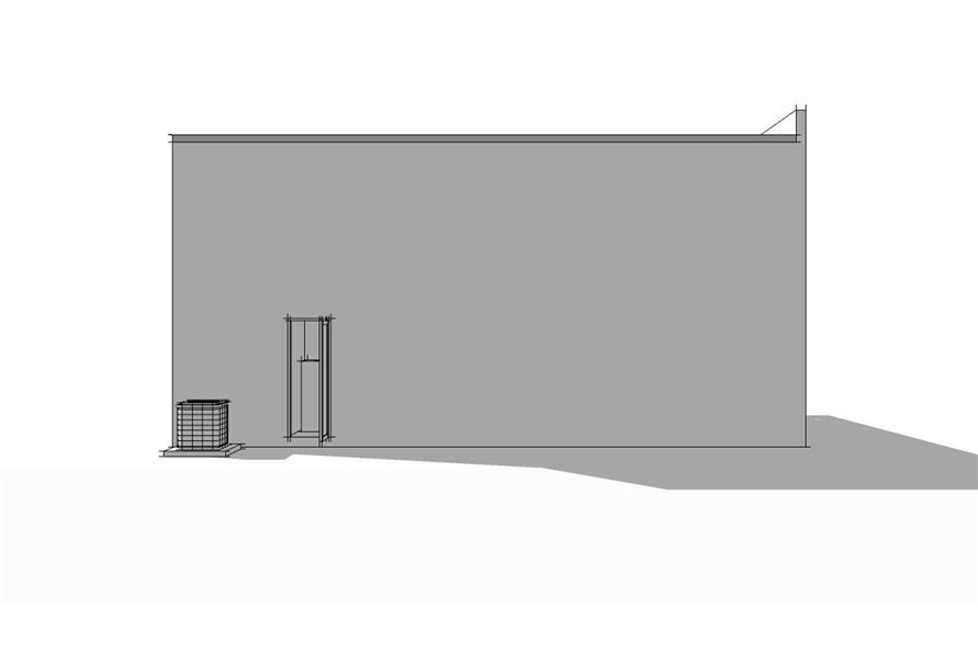 116-1032: Home Plan Rear Elevation