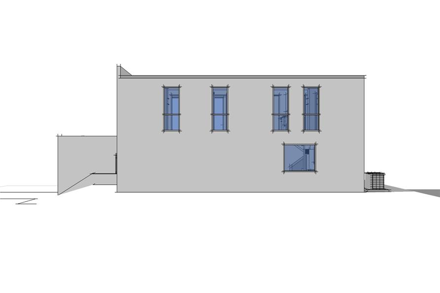 116-1032: Home Plan Right Elevation